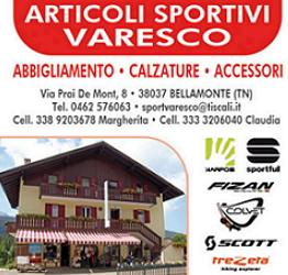 Varesco articoli sportivi Bellamonte