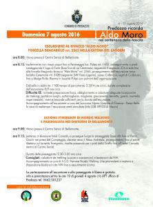 volantino passeggiata Aldo Moro 2016