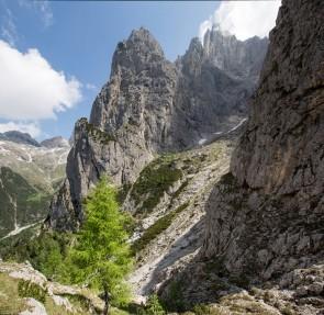 La Val Canali con la Pala del Rifugio